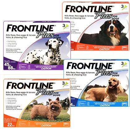 Frontline Plus for Dogs 89-132 LBS-1778