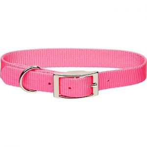 "1""x26"" Pink Nylon Dog Collar-1975"