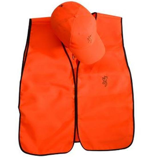 Browning Blaze Orange Cap and Vest Combo with Buck Mark Logo ... 661fb934b66